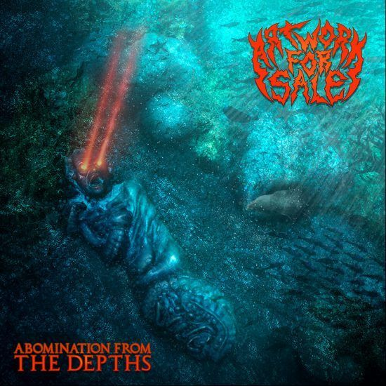Abomination From The Depths Lovecraft style album art